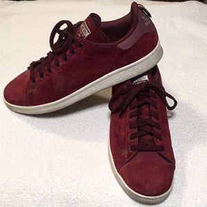 Men's Burgundy Stan Smith Adidas Size 11